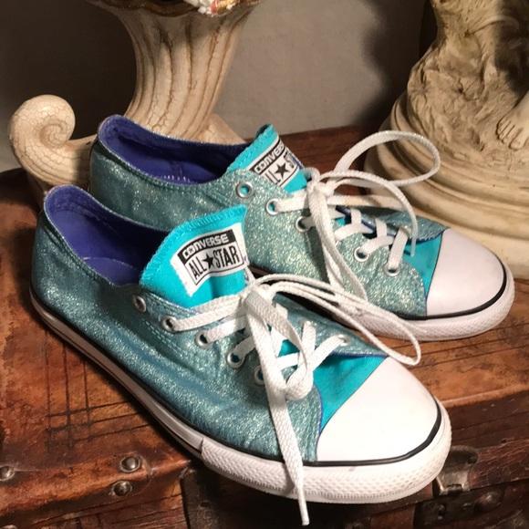4bea02e601832f Converse All Star turquoise glitter sneakers